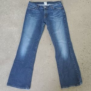 Lucky Brand Dungarees midrise flare size 31